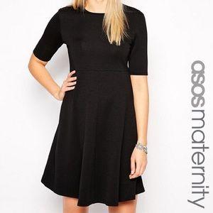 ASOS Maternity Black Skater Dress Size 6